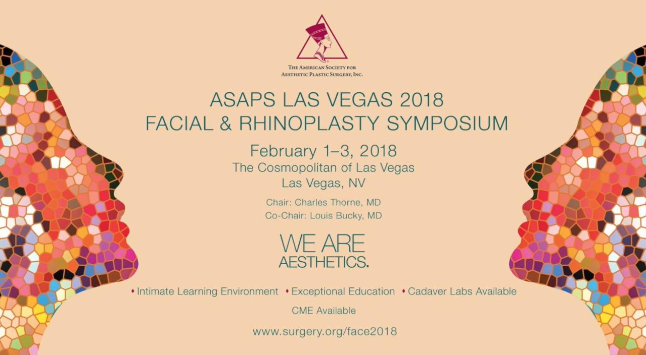 Facial & rhinoplasty simposium ASAPS Las Vegas 2018